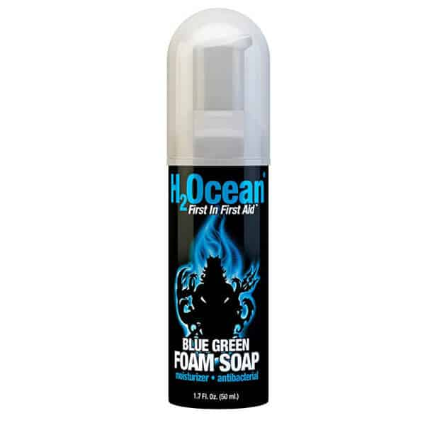 Blue Green Foam Soap by H2Ocean – The Best Unscented Soap for Tattoos Care.