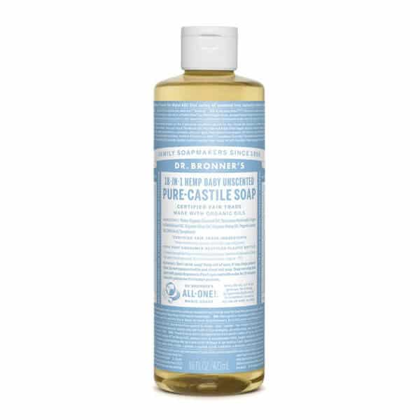 Dr. Bronner's Pure-Castile Liquid Soap – The Best Mild Soap to Clean Tattoo.