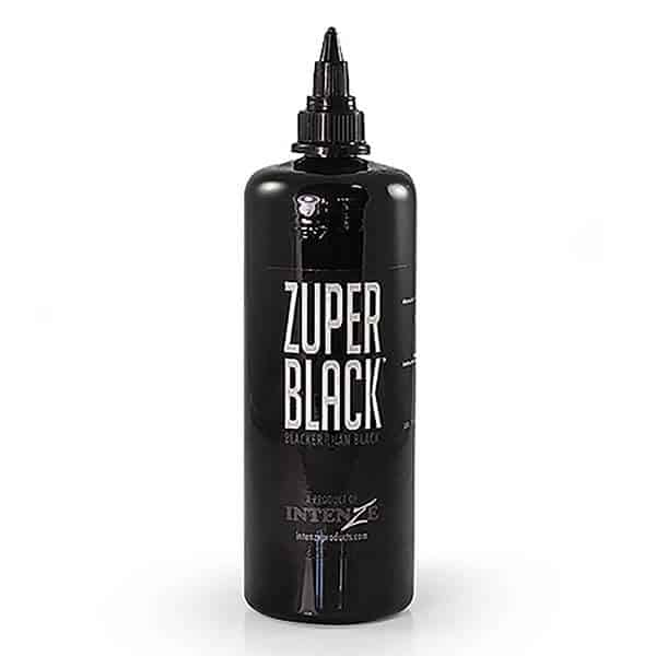 INTENZE PROFESSIONAL TATTOO INK ZUPER BLACK- DEEPEST INTENZE INK.