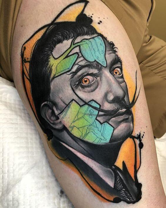 Illustrative tattoos Dali.