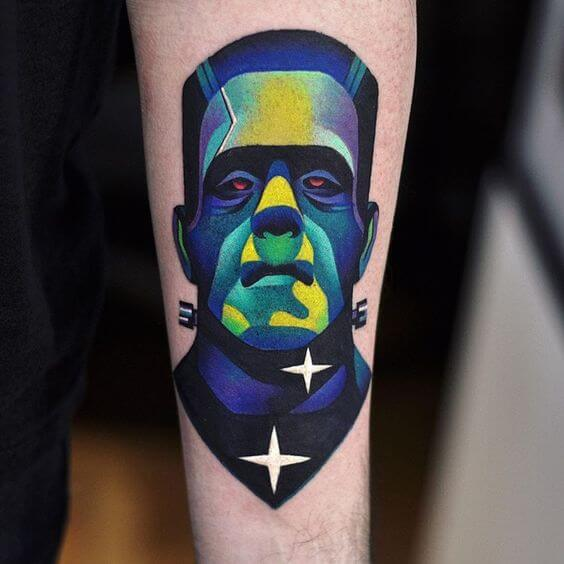 Illustrative tattoos frankenstein.