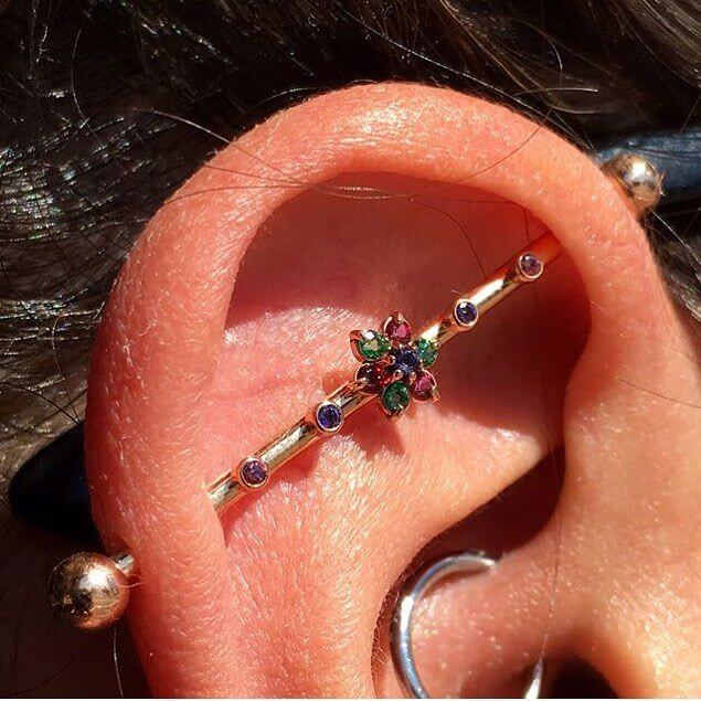Industrial Piercing jewelry.