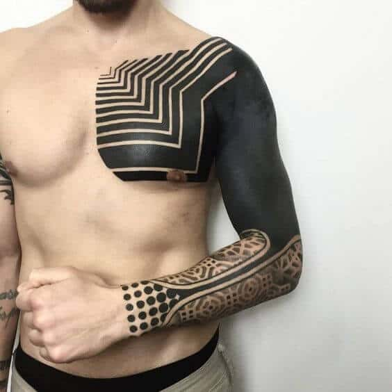 blackwork tattoos sleeves.