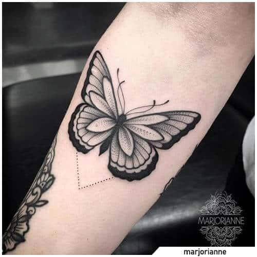 butterfly tattoo arm.