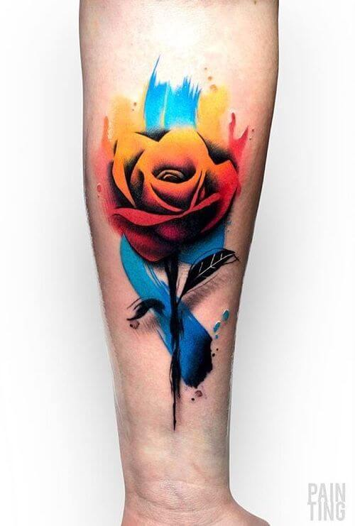 flower tattoos watercolor.