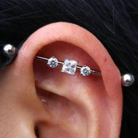 industrial piercing cute.