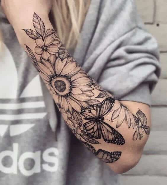 sunflowers tattoos for women.