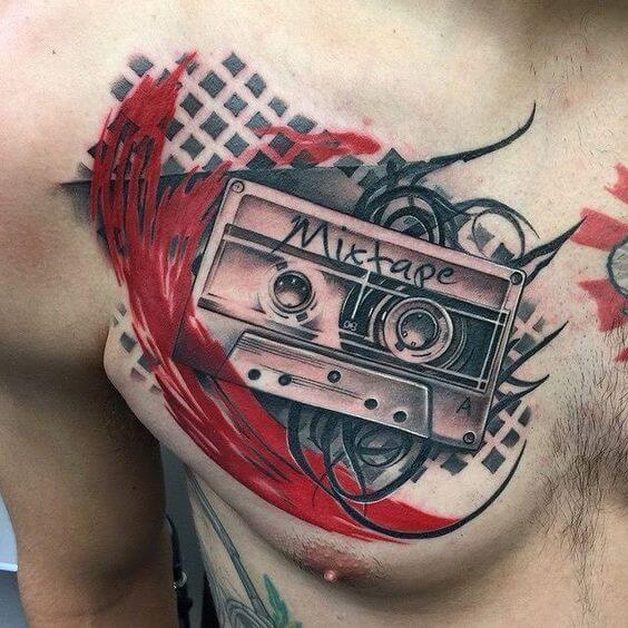 trash polka tattoos music.
