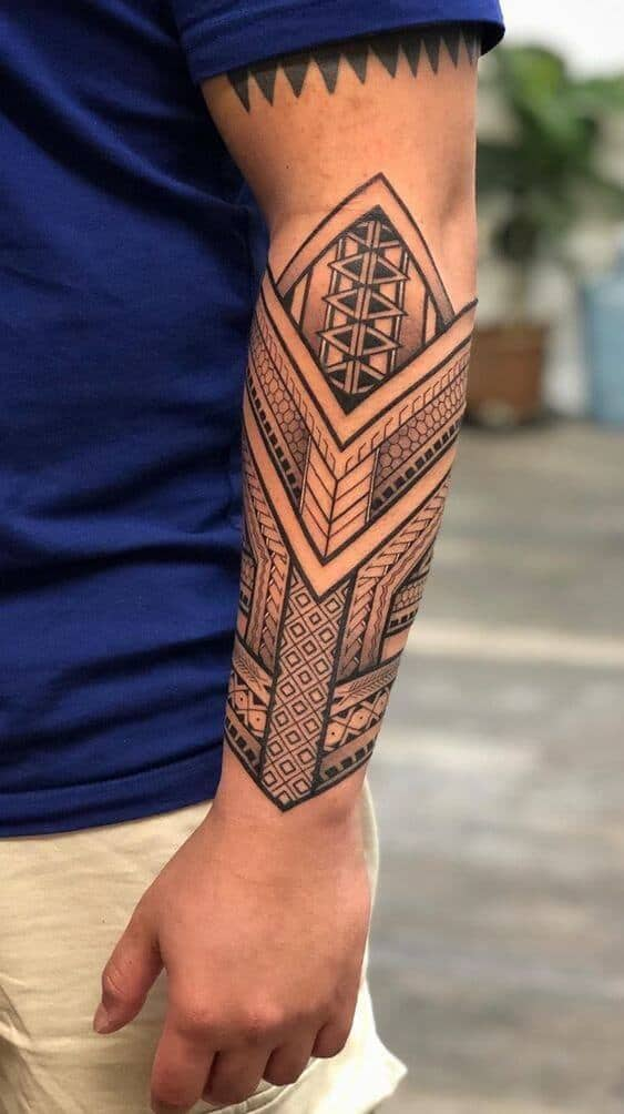 tribal tattoos ideas for men's arm.