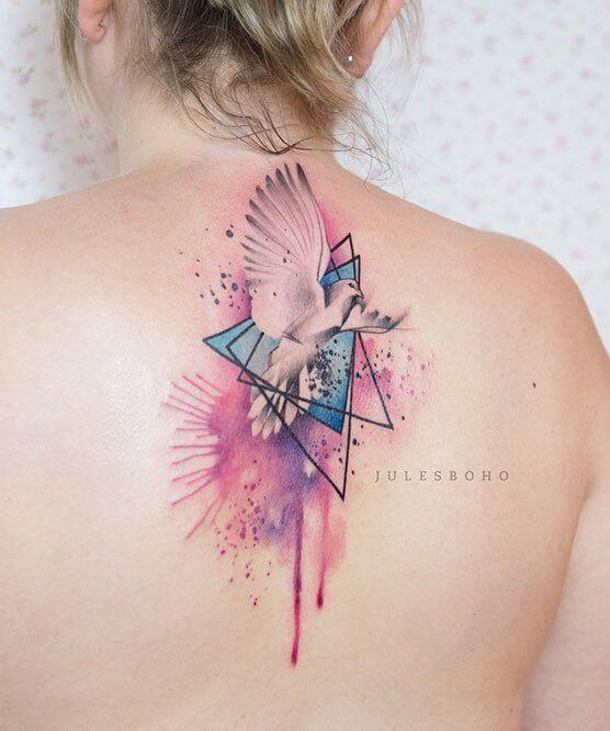 watercolor tattoo dove.