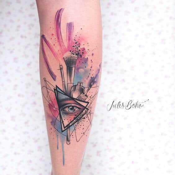 watercolor tattoo eye.