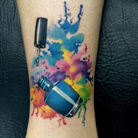 watercolor tattoo varnish.
