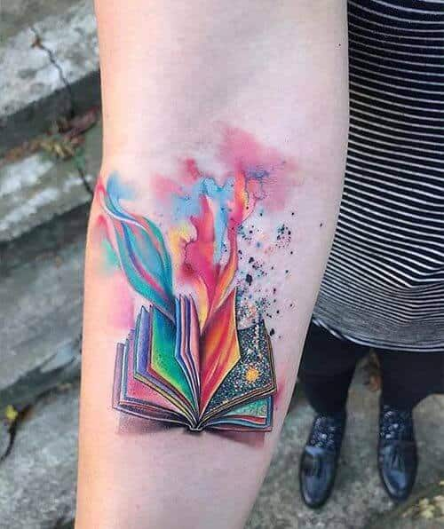 watercolor tattoos book.